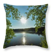 Sunburst Over The Reservoir Throw Pillow