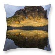 Sunburst Peak Reflection Throw Pillow