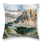 Sunburst Peak Throw Pillow