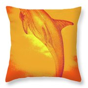 Sunburst Porpoise Throw Pillow