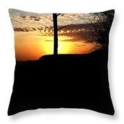 Sunburst Sunset Throw Pillow
