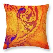 Sunburst Tiger Throw Pillow