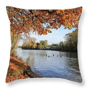 Sunbury On Thames Surrey Uk Throw Pillow