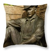 Sundance Kid Statue 4 Throw Pillow