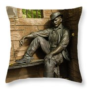 Sundance Kid Statue Throw Pillow