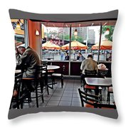 Sunday Afternoon At Dunkin Donuts Throw Pillow
