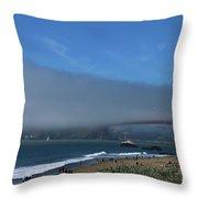 Sunday Afternoon At Golden Gate Bridge Beach Throw Pillow