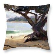 Sunday Afternoon Carmel Beach Throw Pillow
