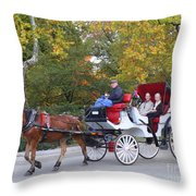 Sunday Afternoon In Central Park Throw Pillow
