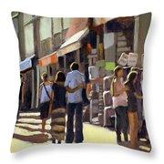 Sunday Bazaar Throw Pillow