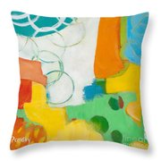 Sunday Day Bubbles Throw Pillow