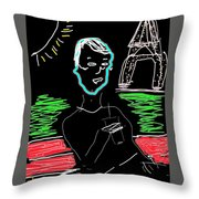 Sunday In Paris Throw Pillow