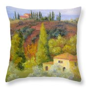 Sunday In Tuscany Throw Pillow