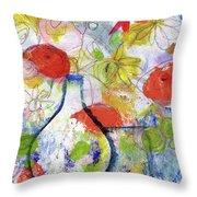 Sunday Market Flowers- Art By Linda Woods Throw Pillow