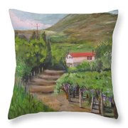Sunday Morning At Ocone Vini Montesarchio Italy Throw Pillow