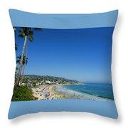 Sunday On Laguna Beach Throw Pillow
