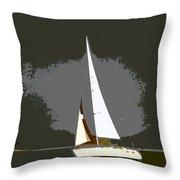 Sunday Sailing Throw Pillow