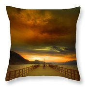 Sunday Storm Clouds Throw Pillow