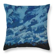 Sunday Sunrise Cumulus Floccus Throw Pillow