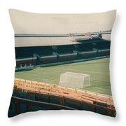 Sunderland - Roker Park - Clock Stand 1 - Leitch - 1970s Throw Pillow