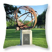 Sundial At American Legion Post, Indianapolis, Indiana Throw Pillow