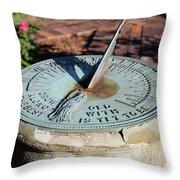 Sundial At Benjamin Harrison Home, Indianapolis, Indiana Throw Pillow