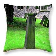 Sundial In St Leonard's Churchyard - Thorpe Throw Pillow