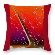 Sundial In The Sky With Bubbles Throw Pillow