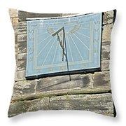 Sundial On St Mary's Church - Tutbury Throw Pillow