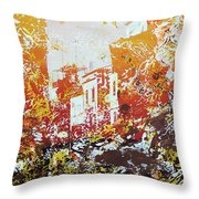 Sundown Abstraction 2 Throw Pillow