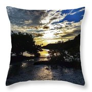 Sundown At Anne's Beach Throw Pillow