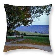 Sundown At Blue Ridge Throw Pillow