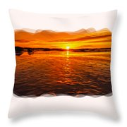 Sundown At Low Tide 2 Throw Pillow