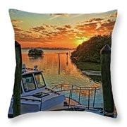 Sundown By H H Photography Of Florida Throw Pillow