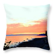 Sundown From West Vancouver Throw Pillow