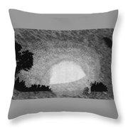 Sundown In Clay County, Minnesota Throw Pillow