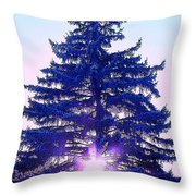 Sundown In The Forest Throw Pillow
