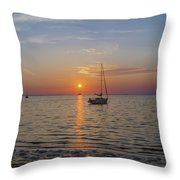 Sundown In The Tropics Throw Pillow