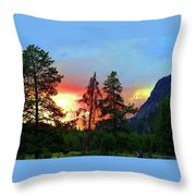 Sundown In Yellowstone Throw Pillow