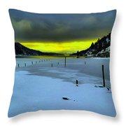 Sundown On Lake Shore Throw Pillow