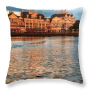 Sundown On The Boardwalk Walt Disney World Throw Pillow