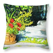 Sunfilled Steps 01 Throw Pillow