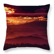 Sunflare Throw Pillow