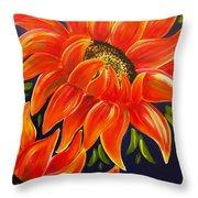 Sunflora Throw Pillow