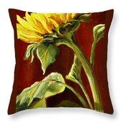 Sunflower - Sunny Side Up Throw Pillow