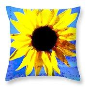 Sunflower 12 Throw Pillow
