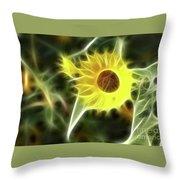 Sunflower-5030-fractal Throw Pillow