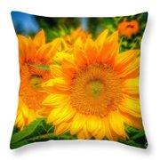 Sunflower 9 Throw Pillow