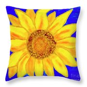Sunflower, Acrylic Painting Throw Pillow