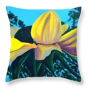 Sunflower And Spider Throw Pillow